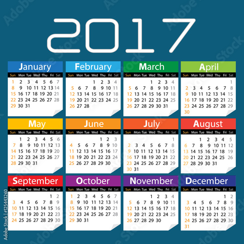 Online Calendars To Download Printable Calendar Templates Quot;017 Colored Calendar With Blue Background Vectorquot; Stock