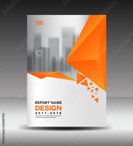 Cover design Annual report vector illustration, business brochure