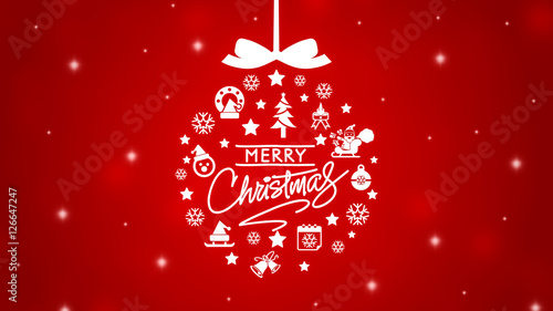 Elegant Merry Christmas background\