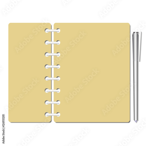 Flat identity blank notebook sheets, pages Checklist, memo, testing - blank memo template