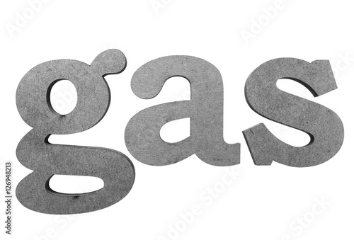 Petroleum, refinery  natural gas industry and business theme The - word with the letters