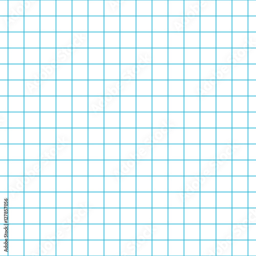 Checkered notebook paper vector seamless pattern Graph paper