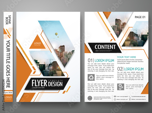 Brochure design template vectorSquare layout in cover book