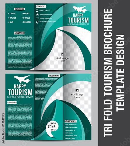 Tri Fold Tourism Brochure Template Design\
