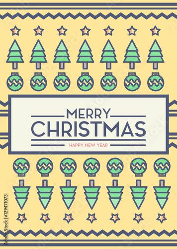 Merry Christmas Card Cover Sock Background Vector Design and Layout