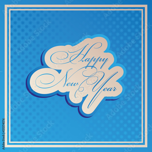 Happy New Year Vector illustration for your holiday presentation