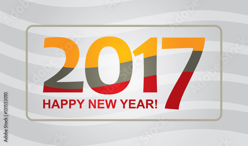 Happy New Year - illustration for business presentation\