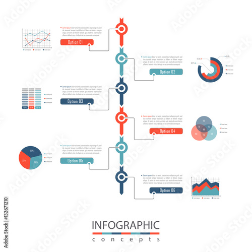 Infographic timeline template can be used for chart, diagram, web - template for timeline chart