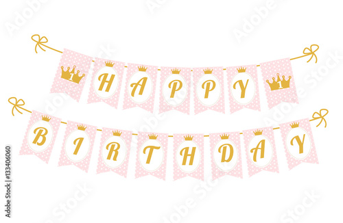 Printable template flags Cute pennant banner as flags with letters