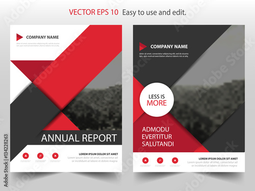 Red Black Circle Vector business proposal Leaflet Brochure Flyer - black flyer template