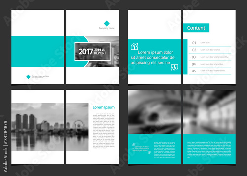 Corporate design annual report or catalog, magazine, flyer, booklet