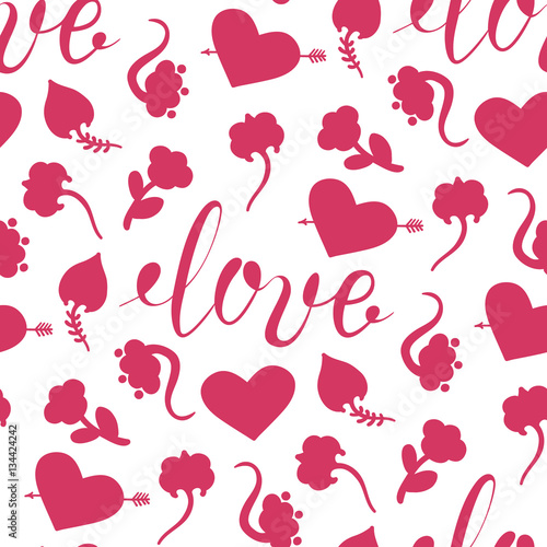 Background for Valentines day, wedding invitation Seamless pattern
