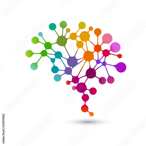 Creative concept of the human brain, eps10 vector\