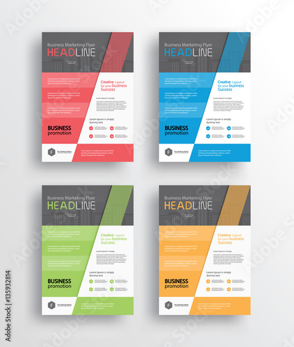 set business marketing flyer /brochure/poster/ and report design - marketing brochure