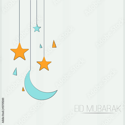 creative vector template or background for Eid Mubarak, Ramadan