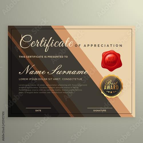creative certificate design, diploma vector\