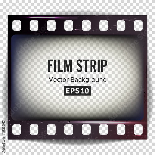Film Strip Vector Frame Strip Blank Scratched Isolated On