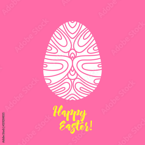 Happy Easter greeting card template in paper cutting style Laser - easter greeting card template