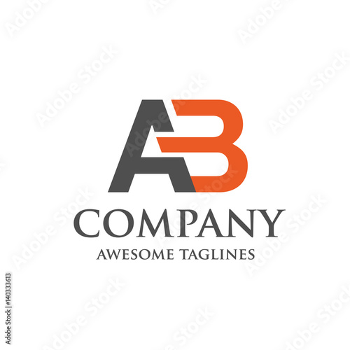 creative letter AB logo Abstract business logo design template