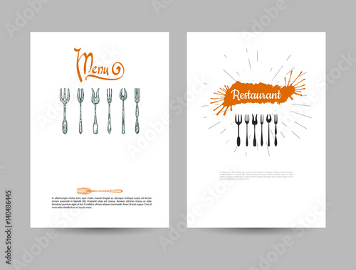 A set of two backgrounds Illustration with the word \