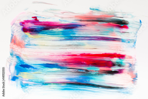 Quotcolorful Smears Of Paint On White Free Space Abstract