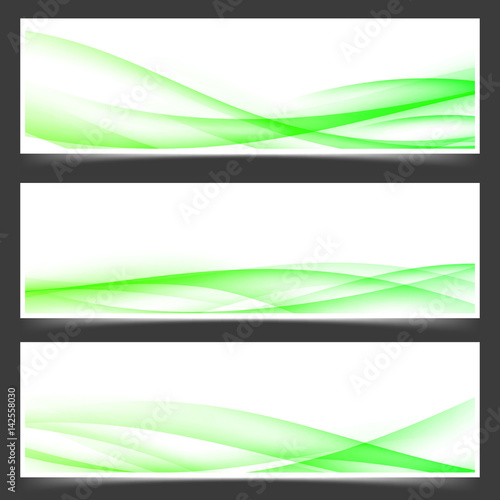 Green fresh spring web header footer templates\
