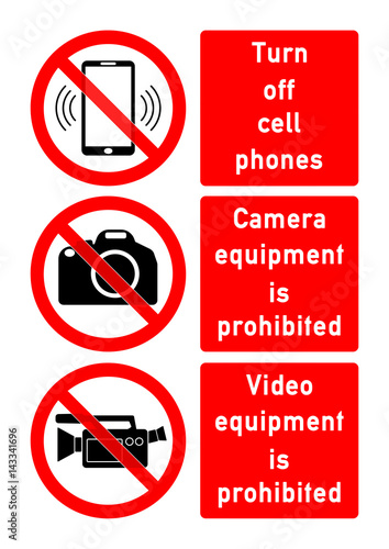 smms4 SafetyMultiMessageSign smms - english - turn off cell phones - Turn Off Cell Phone Sign