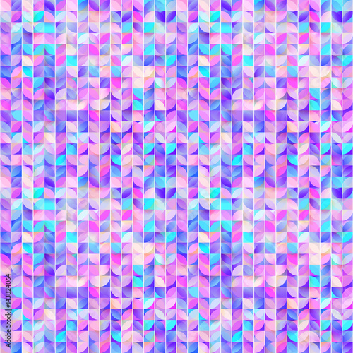 Abstract geometric seamless patternCute mosaic background Colorful