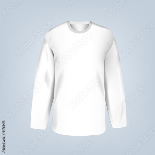 Vector illustration of blank hockey jersey template\