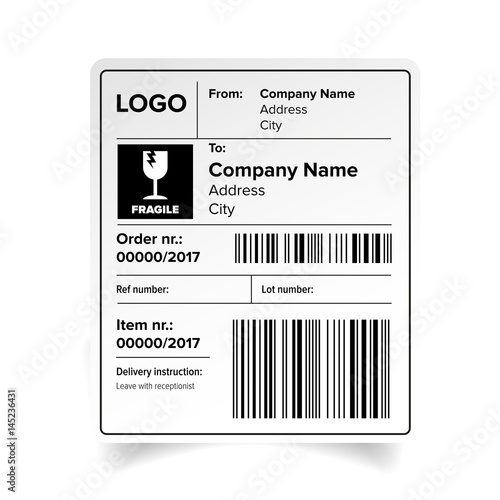 Shipping label template\