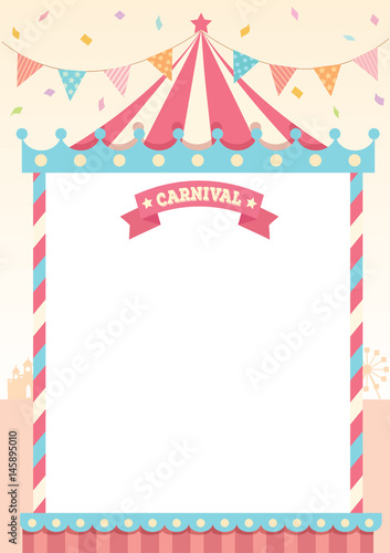 Illustration vector of circus tent of carnival decorated with - free carnival sign template