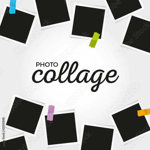 Photo collage template\