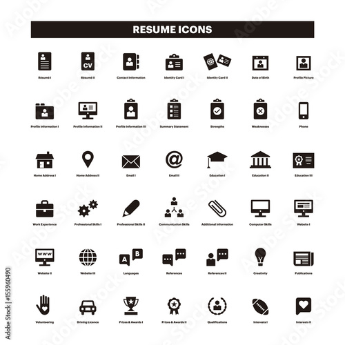 pictogramme word cv