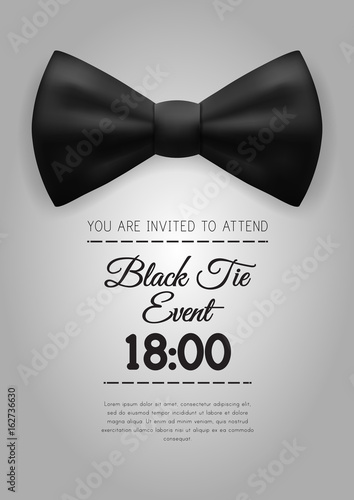 A4 Elegant Black Tie Event Invitation Template\ - free event invitation templates