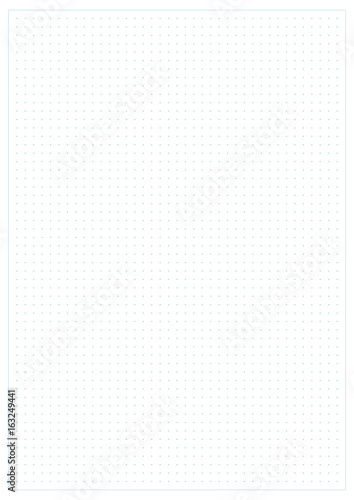 Dotted grid graph paper background\