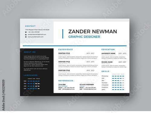 Landscape CV Resume Clean Design Vector Template / Curriculum Vitae - landscaping skills resume
