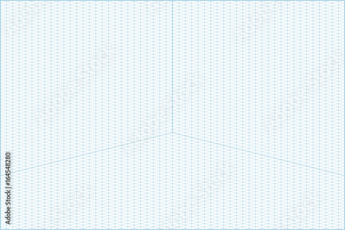 Vector blue wide angle isometric grid graph paper horizontal - free isometric paper