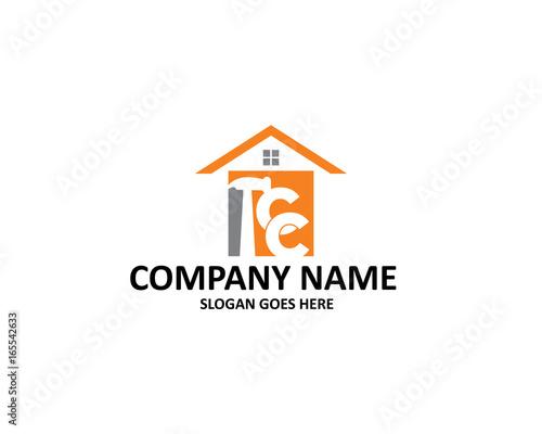 cc letter construction logo\