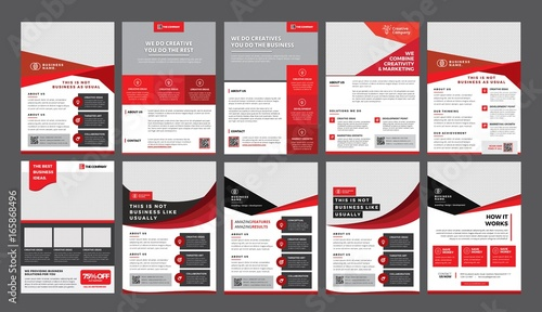 a bundle of 10 templates of a4 flyer template, modern template, in