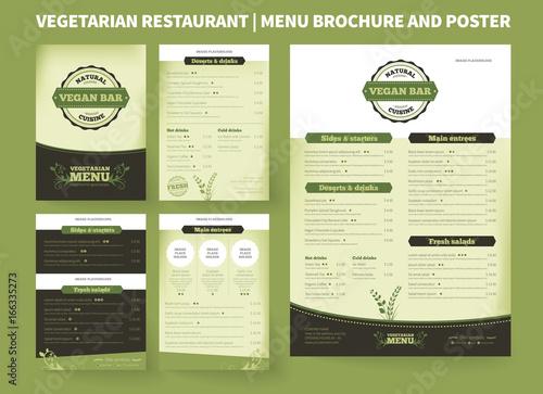 Restaurant menu brochure template Vector design, modern cover