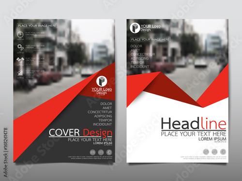 Red flyer cover business brochure vector design, Leaflet advertising