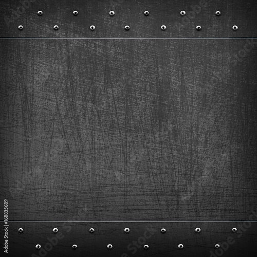scratched black metal template background\
