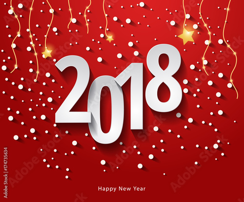 Happy New Year 2018 background Carte de voeux - New year greeting
