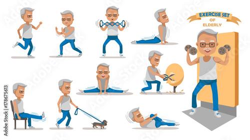 Quotelderly Exercise Senior Exercise Of Male Exercising