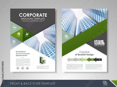Brochure layout design template\