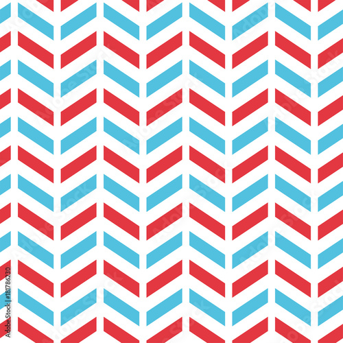 Seamless Chevron Pattern in Blue, Red, and White color Nice