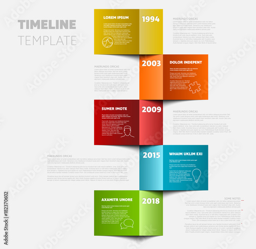 Vertical timeline template\ - advertising timeline template