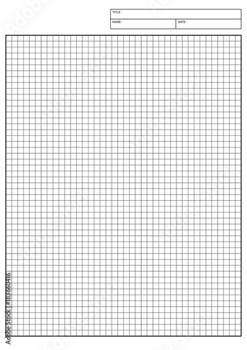 engineering graph paper Printable Graph Paper vector illustration