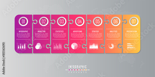Infographic timeline template can be used for chart, diagram, web - advertising timeline template