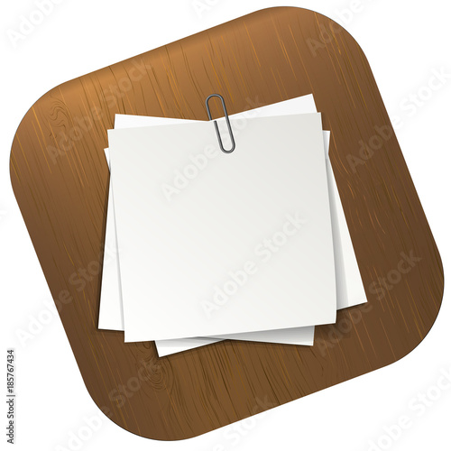 White sticky notes pinned on table sheets of note papers Template - note paper template